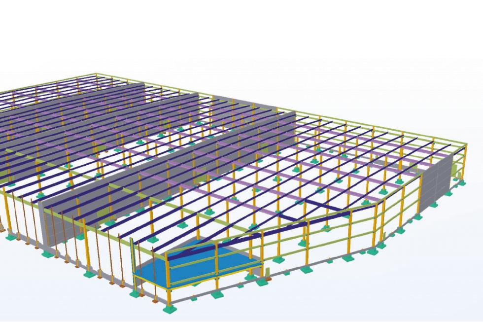 Maquette BIM réalisé dans le cadre d'une étude par le bureau d'études structure AMOCER